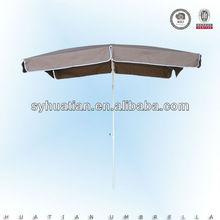 Inoxidable 200*130cm paraguas marco cuadrado en forma de sombrilla de patio