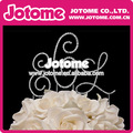 Pastel de boda topper, de cristal adorno de torta, inicial de adorno de torta, monograma torta superior