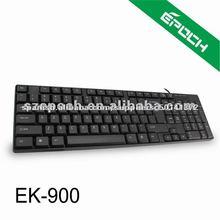 2012 nuevo negro con cable teclado de ordenador con 104 teclas