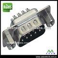 D- sub vga 9 pin copa soldadura tipo de conector para el alambre