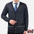 Sueltas tipo chaqueta chaqueta de punto para medio- de edad de los hombres frente botón cardigan