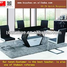 alta qualidade branco e preto de madeira mesa de jantar