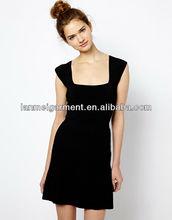 negro corto sexy mini vestidos