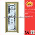 China, grano de madera de la puerta de aluminio precio marco