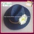 moda azul de moda rafia sombrero de paja