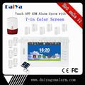 "7"" touch screen gsm casa alarme toque"
