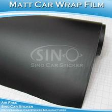 Negro mate del pvc película de color para el coche wrap1.52x30m