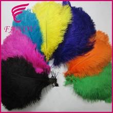 venta caliente 15cm a 75cm colorido de lujo al por mayor plumas de avestruz de plumas de color naranja de largo