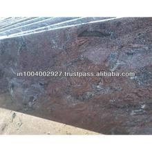 Clásico paradiso losas de granito pulido en afilado flameado acabado de cuero antiguos terminado en telar y cortador de tamaños