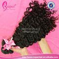 Caw clip cola de caballo de pelo humano de extensión, cinta brasileña extensiones de cabello, 100 puro virgen cabello humano