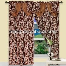 De moda para cenefas blackout jacquard bolsillo de la barra de la cortina de diseño( rideaux cafe)