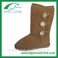 Classe chameau, cuir chaudes bottes d'hiver pour les femmes