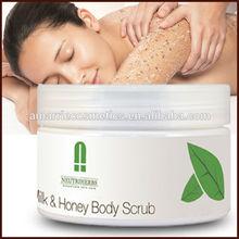 whitening e refrescante de óleo da pele esfoliante corporal