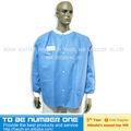 Médicos desechables 3- anti woodplup spunlace de laboratorio con chaquetas de punto del manguito