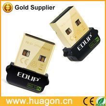La estabilidad fuerte mini desgaste- resistente de oro usb y de red de tarjeta de nano adaptador wifi