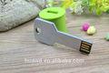 de metal logotipo de la empresa de memoria flash usb stick clave de forma 4gb llave de plata de impulsión de