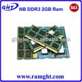 ddr3 1066 mhz ordinateur portable ram 2go ddr3