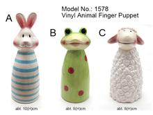 Conejo/rana/ovejas de plástico de los animales dedo marioneta