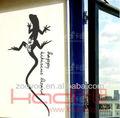 zy8035 citar la pared de vinilo calcomanía etiqueta negro de flores decorativas gekko tótem al aire libre