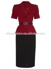 Venta al por mayor de las señoras traje de la oficina de estilo para el tamaño más medio- envejecido traje de las mujeres