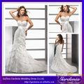 Alta calidad de moda Hasta el suelo vestidos de boda del cuello del amor de la sirena vestidos de novia de encaje en capas