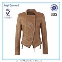 factory direct 2014 coloré cher brunetaille gros vestes en peau de porc