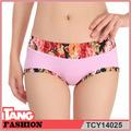 tcy14025 rosa patrón fibra bambú más el tamaño de ropa interior de mujer
