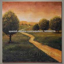 el más reciente abstracta hecha a mano de pintura al óleo del paisaje en el precio de descuento