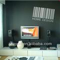 de la pared de vinilo calcomanía etiqueta negro decorativos para el hogar de diseño de código de barras etiqueta forma
