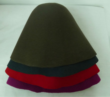 Baratos 100% de fieltro de lana sombreros de vaquero, disquete, sombrero de copa, fedora, sombrero de paño,