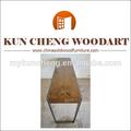 Clássico de madeira e ferro fundido banco de jardim/mobiliário de jardim banco comprido