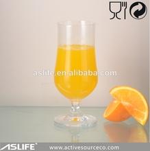 De color claro gafas de jugo de taza de jugo de 421ml/14.2oz libre de plomo de cristal baratos barra de vasos