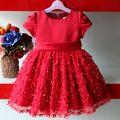 2014 nuevo diseño de bola vestido de niña vestido de flores jk-8802-4