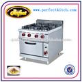 Comercial de gas para cocinar con rango 4- quemador& horno