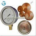 Manómetro de bajar la presión de acero negro caja