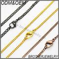 Diseño de la cadena de acero inoxidable al por mayor de del oro nuevo para Hombres