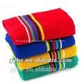 Fios 100% de algodão tingido terry bordado da mão toalha de conjuntos
