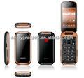 wcdma 3g senior inteligente flip con teléfono de doble sim doble modo de espera disfrutar de android w58 cdma teléfono flip