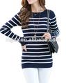 nueva primavera 2014 de lana para hacer punto niñas imprimación largo suéter suéter de cuello redondo delgado y fino