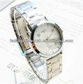 de acero inoxidable reloj de señora con esfera blanca