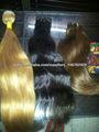 pelo indio en diferentes castaño rubio negro colores