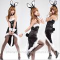 preto sexy fantasia de coelho