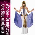 traje vestido longo branco egípcio Cleópatra