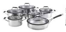 SA-12004 Juego de ollas de 12 piezas de acero inoxidable utensilios de cocina sin agua para ventas al por mayor