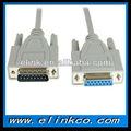 cable vga db15 macho a hembra del cable para las computadoras