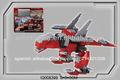 Dinosaurio 3d serie de bloques de construcción, akantor 4 1 en ladrillo, akantor ladrillos del juguete