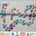 Jesús Cruz Colorido Corazón Beads Niños Rosario