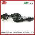 Hola- calidad estándar británico del ordenador portátil retráctil cable cable de alimentación