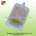 reutilizables surtidor bolsa con cierre de cremallera fuerte inferior para el jugo