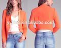 frente cubierto con blazer volar detallando abierto de diseño de moda de ropa de mujer